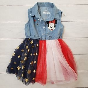 Minnie Mouse Red White & Blue Dress